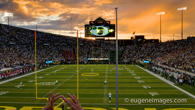 The Autzen Stadium - Popular Eugene Oregon Real Estate owned by the University of Oregon