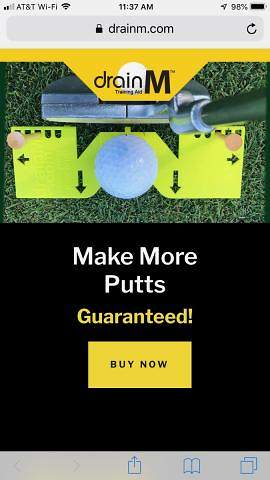 New drainM Website Features Revolutionary Pocket-Sized Golf Training Aid