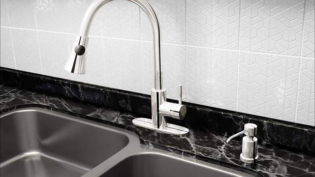 foaming built in sink soap dispenser