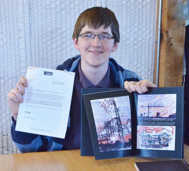 art portfolio by high school student steals scholarship at