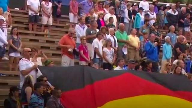 """Deutschland, Deutschland uber alles, uber alles in der Welt,"" resounded before match on Maui island in Hawaii, Photo: YouTube"