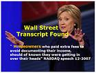 Bad News For Hillary Clinton - Wall Street Transcript Found!