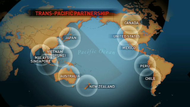 Map of TPP countries
