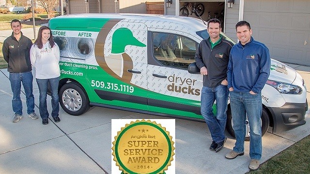 Dryer Ducks Earns 2014 Angie S List Super Service Award