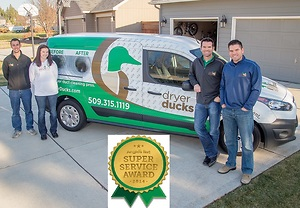 Dryer Ducks Earns 2014 Angie's List Super Service Award