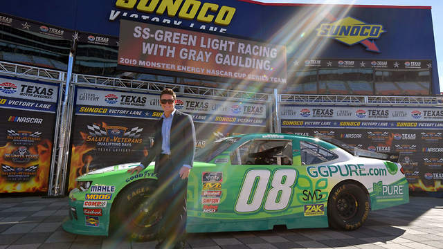 NASCAR driver Gray Gaulding unveils partnership with SS Greenlight and PURE