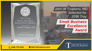 John M Trupiano MD Wins 2016 Troy Small Business Excellence Award