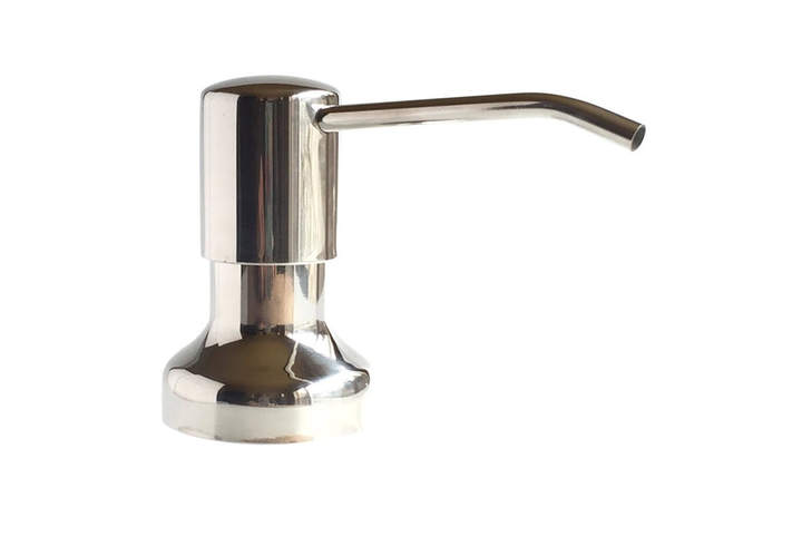 Polished Stainless Steel Soap Dispenser
