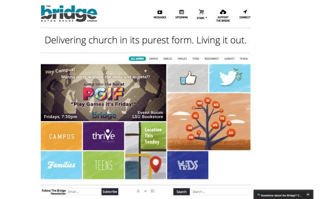 New Baton Rouge Non-Denominational Church, The Bridge, Launches Modern Website