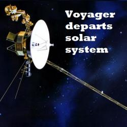 Voyager Leaves Solar System Behind