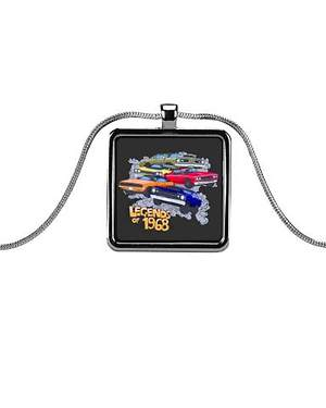 Drag Racing Jewelry Metallic Rectangle Necklaces Launched