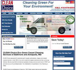 Clean Choice Carpet Care Systems of Baltimore Launches a New Website