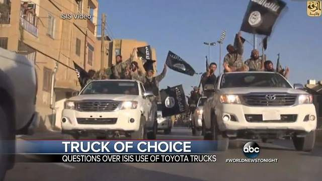 Us Investigates Toyota For Being Isis Vehicle Of Choice