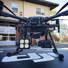 DJI drone with a thermal-imaging camera designed by FLIR Systems