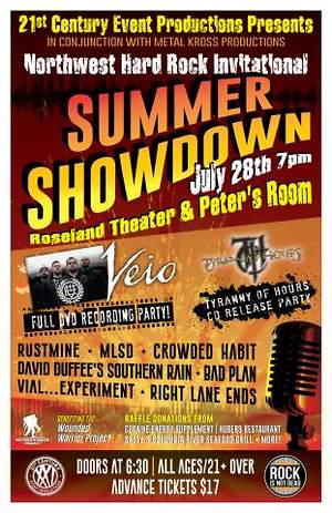 Portland Hard Rock Band Veio Roseland Theater Summer Showdown Concert Announced