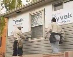 Vinyl Siding Operation in Process