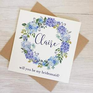 UK Bespoke Autumnal Bridesmaid Card Wedding Party Gift Invitation Site Launched