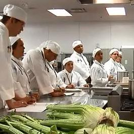 Student Cooks Learning in the Restaurant