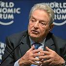 Billionaire philanthropist George Soros is delivering a speech in Davos.
