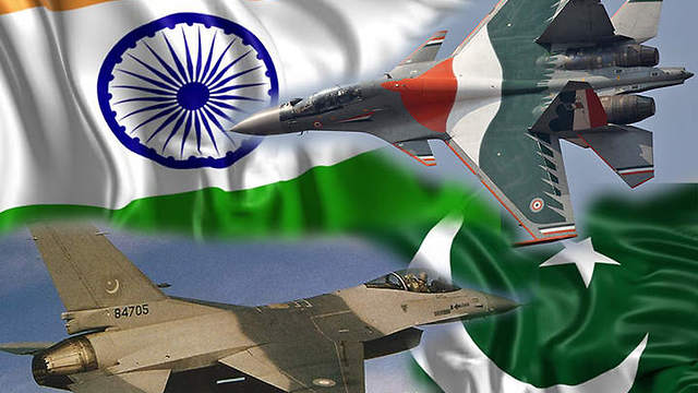 Indian Su-30 and Pakistani F-16