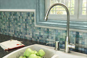 Ultimate Kitchen Provides a High Water Flow Sink Faucet