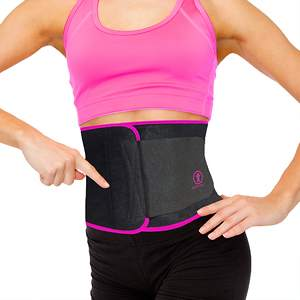 Premium Waist Trimmer Belt From Just Fitter Now Available in Pink