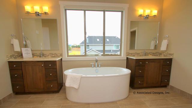 master bathroom freestanding bathtub