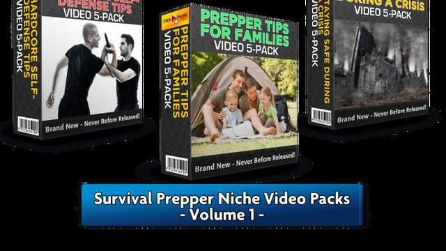 Survival Prepper Niche Video Packs