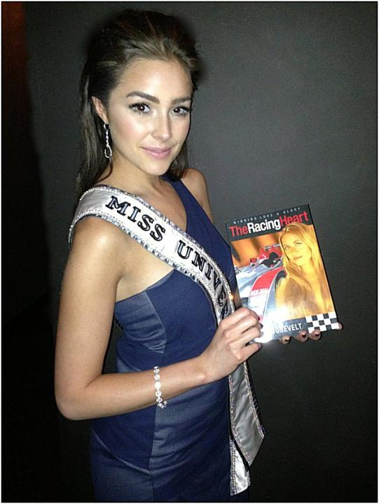"A Well- Read Miss Universe, Olivia Culpo, Loves ""The Racing Heart"" by Ava Roosevelt"