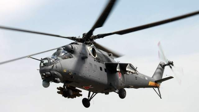 Russian helicopter Mi-35