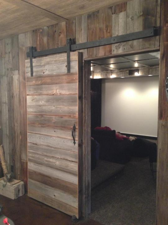 Sliding barn door hardware company taking it from outside for Sliding door company