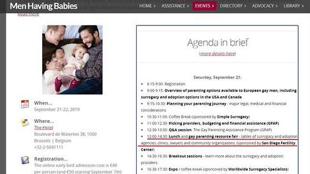 Man Having Babies fair agenda