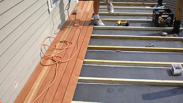 Building an attached wood deck