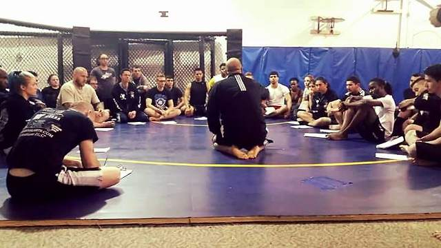 Adult MMA Class Mat Chat With Dion Riccardo - Taken in Orland Park, Illionis