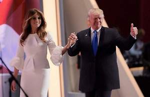 Melania and Donald Trump Sharing Roof Again