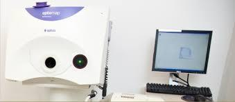The optomap takes a digital  image of the  eye