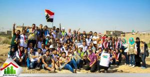 Young Volunteers in Iraq Repair and Build Houses for the Poor People