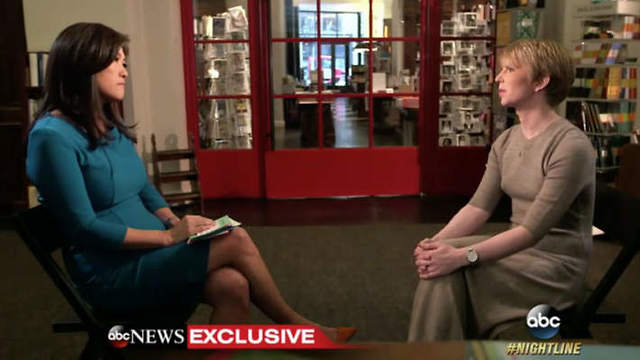 Chelsea Manning with ABC's Nightline host Juju Chang