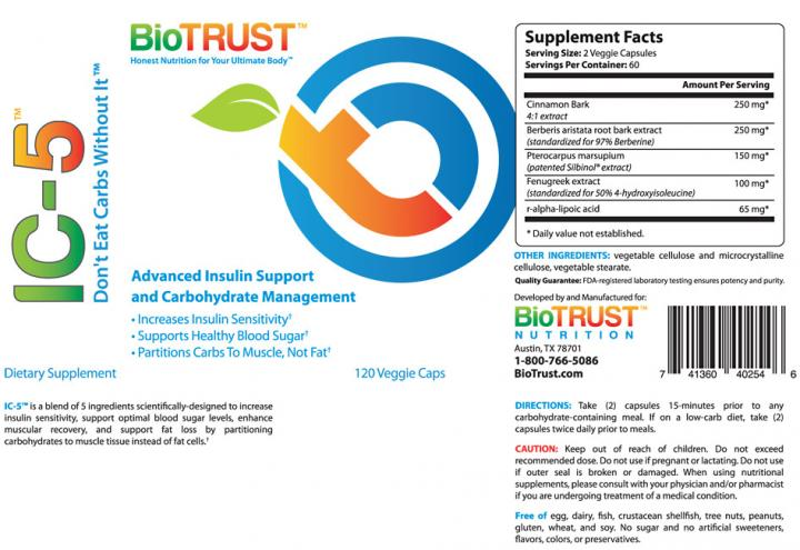 BioTrust IC-5 Review Released By Boot Camp Workout Expert Mike Whitfield