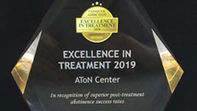 "AToN Center Receives ""Excellence in Treatment"" Award"