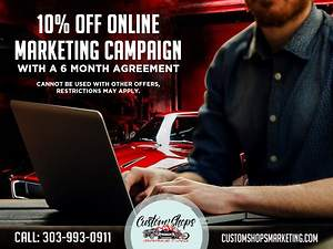 Custom Auto Shop Marketing Agency Offers Discount on Online Marketing Package